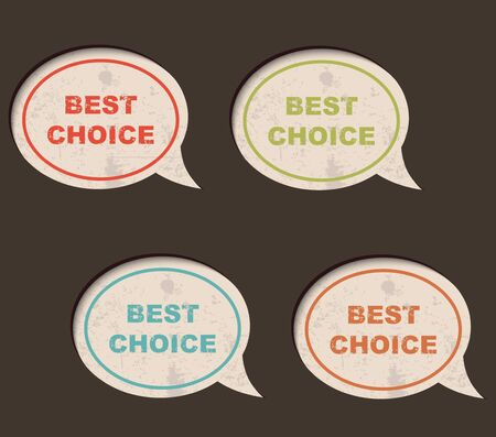 Grunge best choice bubble speech, vector illustration  Stock Vector - 13654889