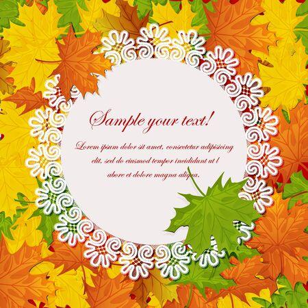 fall leaf: autumn maple leaves Illustration