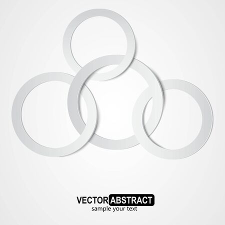 Abstract ring with shadow Illustration