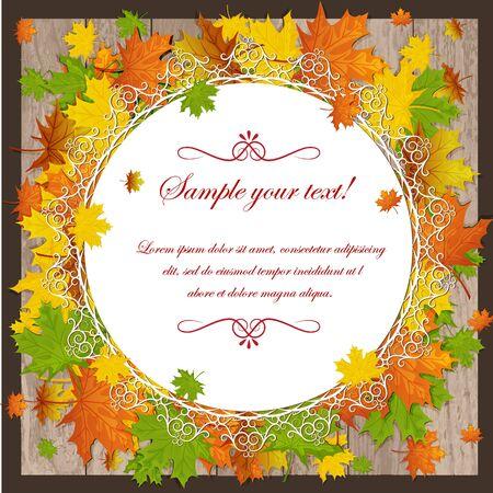 autumn maple leaves Stock Vector - 15351103