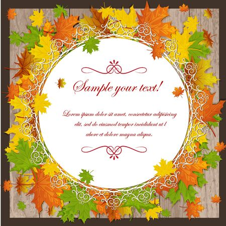 autumn maple leaves Stock Vector - 15351103