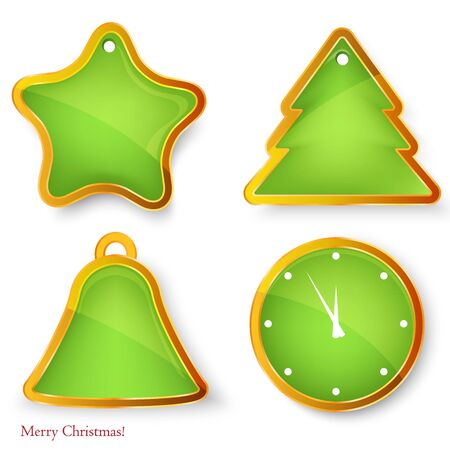 Christmas labelsbadges.  set of christmas elements . Vector