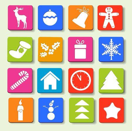 Christmas icons Stock Vector - 15632243