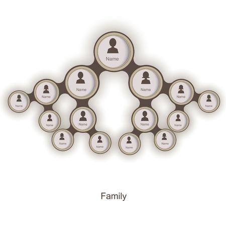 árbol genealógico: Árbol genealógico Vectores
