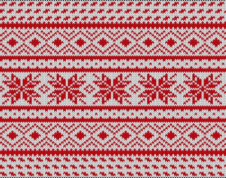 knitwear: Traditional Scandinavian pattern   Illustration