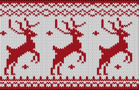 Seamless knitted christmas pattern Vector
