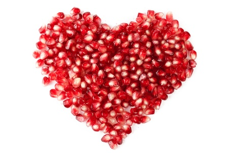 The heart of the pomegranate seeds