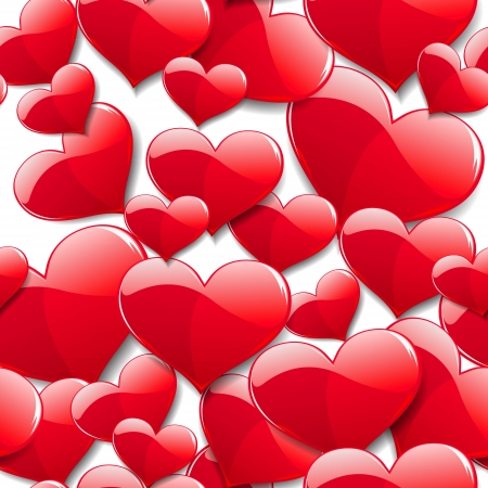 love wallpaper: corazones rojos sobre fondo abstracto
