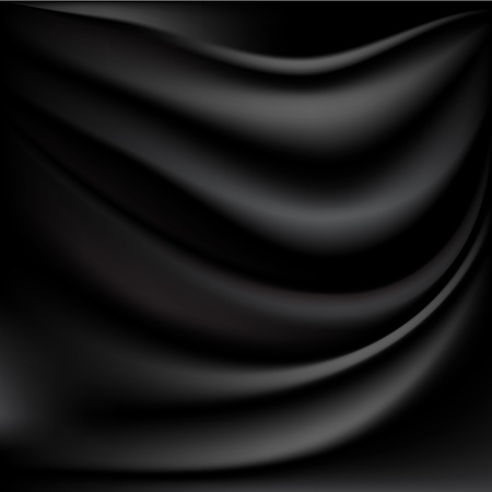 black silk: Abstract background Illustration