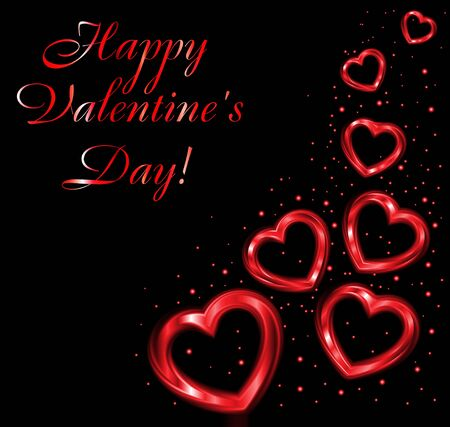 Background of valentine hearts  Vector