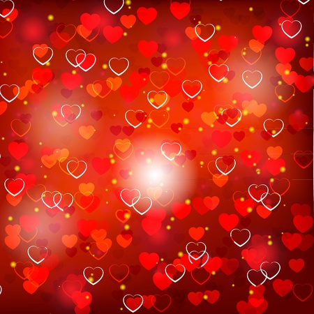 Red Valentine s day background  Vector