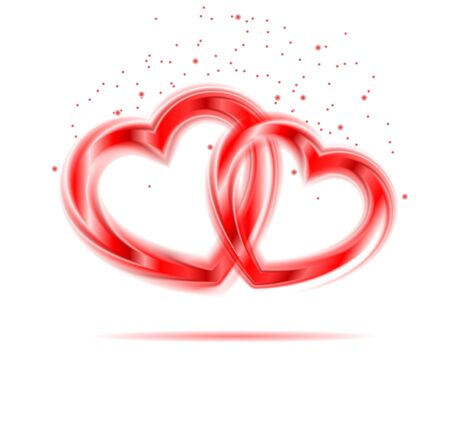Background of pair of valentine hear  Vector