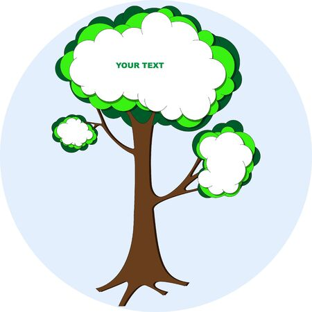 Tree bubble speech Vector