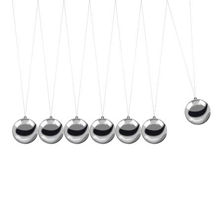 Metal Newton s cradle  Vector illustration  Illustration