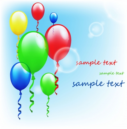 Colorful birthday background Stock Vector - 17694611
