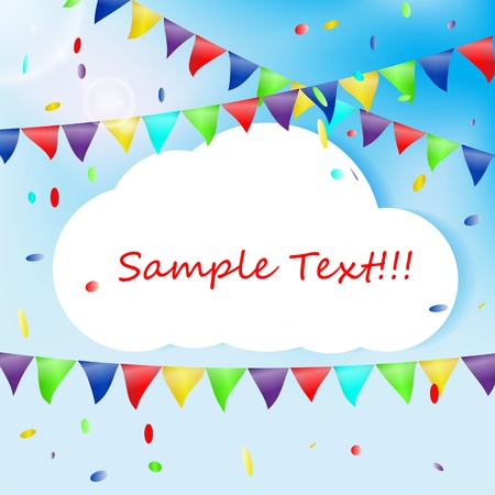 Birthday background with  place for text Vector
