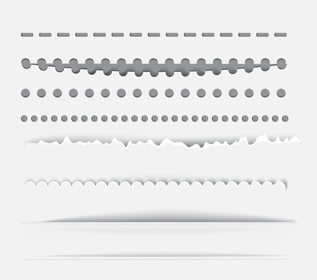 perforation: dividers and vertical rules for design. Illustration