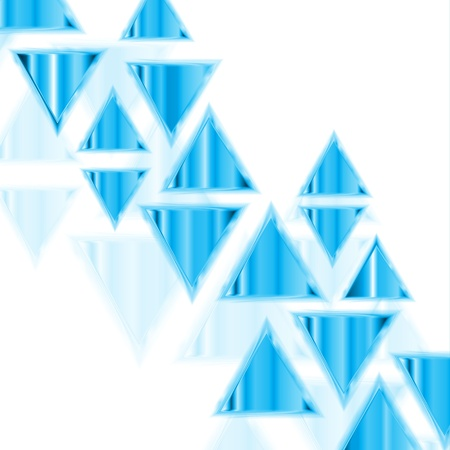 Abstract background of neon triangles Vector