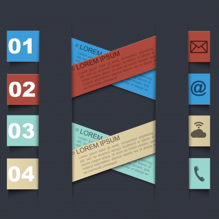 econimics: Infographic design template with paper tags Illustration