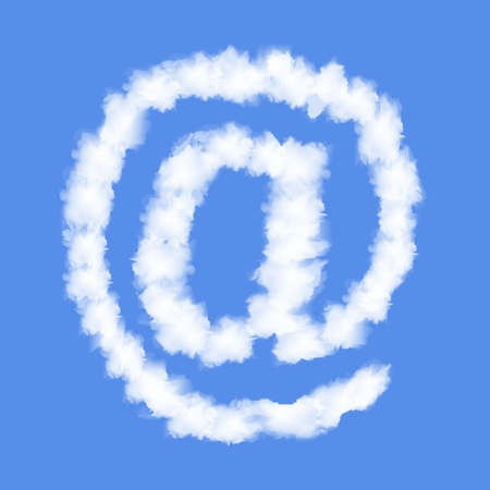 Symbol E-MAIL with clouds written numeral  Vector Illustration Stock Vector - 19255718