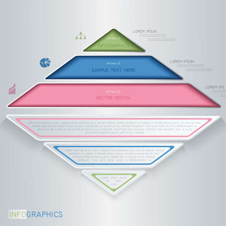 Infographics design with triangle.