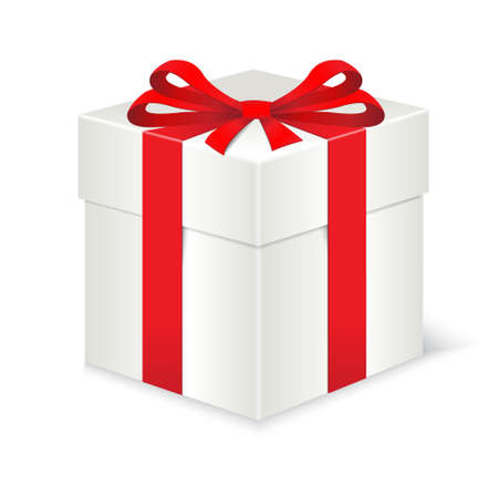 closed box: Gift box with red bow Illustration
