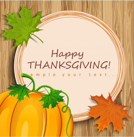 Thanksgiving card Illustration