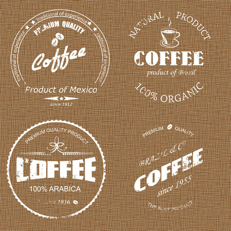 coffee sack: coffee label on sacking Illustration