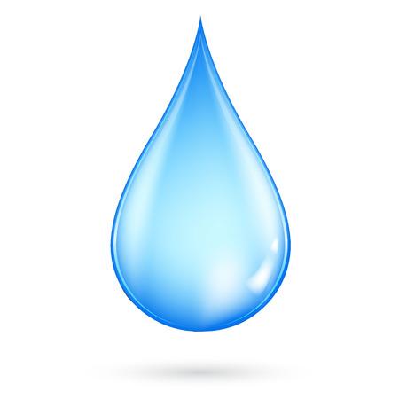 Baisse de l'eau.
