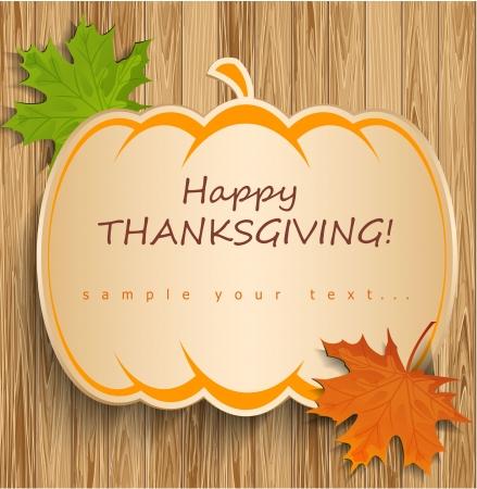 感謝祭のカード  イラスト・ベクター素材
