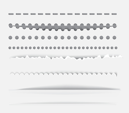 Vector dividers and vertical rules for design.