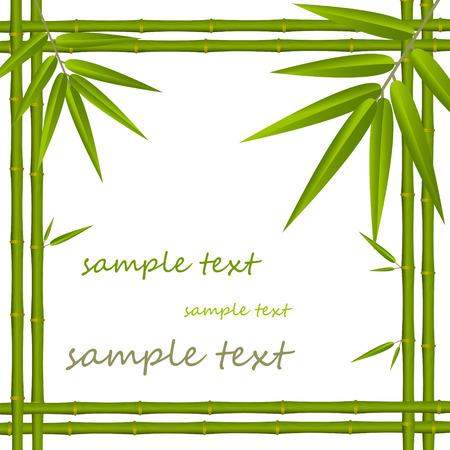 zen garden: Bamboo frame Illustration