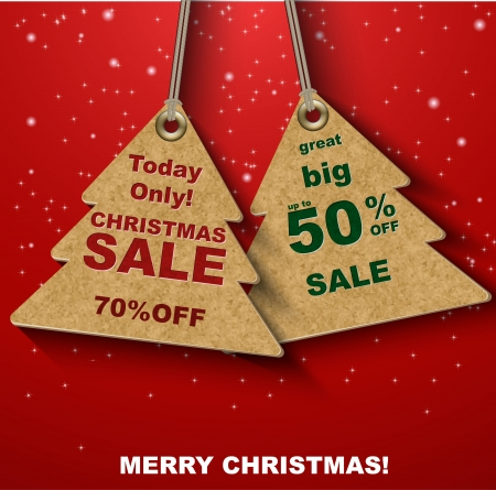 Discount cDiscount coupons in the form of Christmas tree oupons in the form of Christmas tree Vector