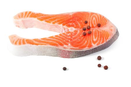 Raw salmon photo