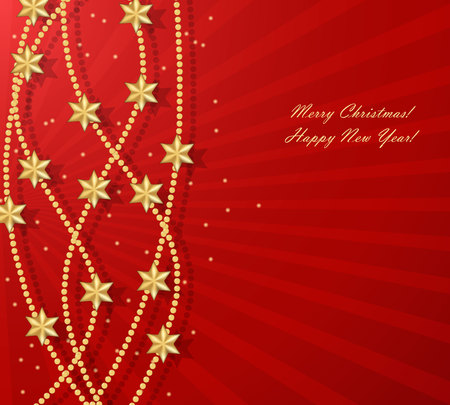 Abstract background with Christmas stars Stock Photo - 24020090