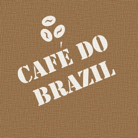 koffiebaal: Achtergrond van een jute koffie zak gestempeld