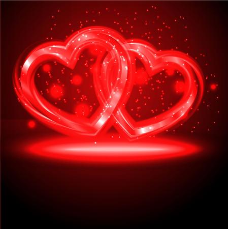 Fondo del día de San Valentín con corazones abstracto