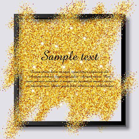 Brilliant sparkling background with frame Illustration
