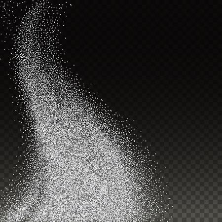 Abstract illustration of golden glitter stream.