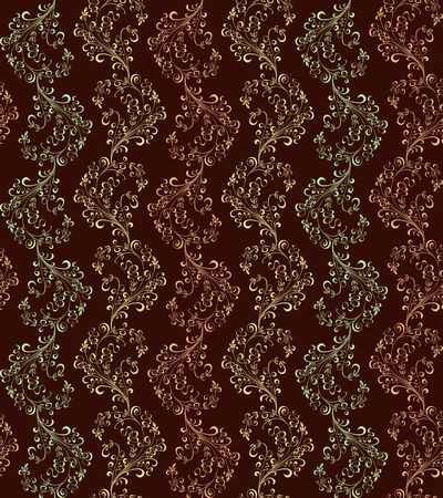 seamless floral pattern of different shades of brown Stock Vector - 9441764
