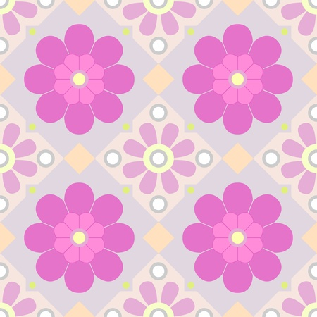 seamless floral pattern of PURPLE colors  Stock Vector - 9468076