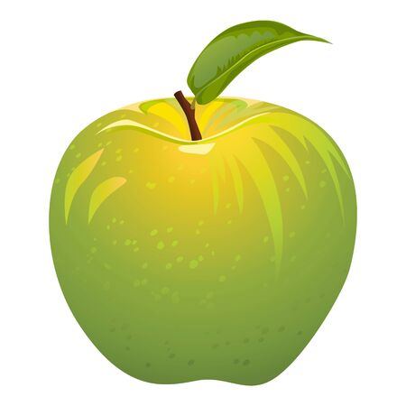 green apple isolated: juicy green apple isolated on a white background