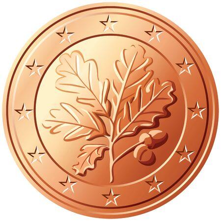 euro coins: German coin euro cents Illustration