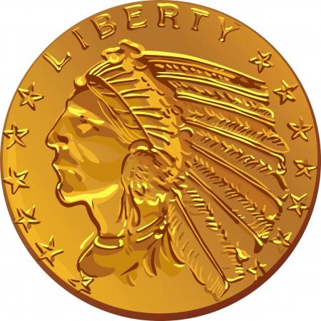 Gold coin: Tiền Mỹ, đồng đô la Mỹ Gold Coin hình ảnh sớm của thế kỷ XX của người Ấn Độ