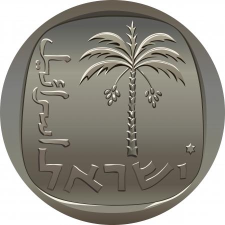 dattelpalme: Israelische M�nze 10 zehn Agora mit der Dattelpalme