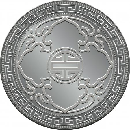 Great Britain money trade dollar silver coin Vector