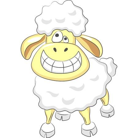 cartoon Funny happy ram smiles and  fun laughs Stock Vector - 12000364