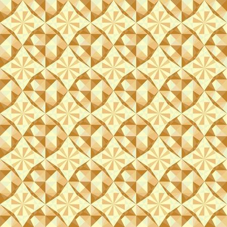 vecteur seamless géométrique dans des couleurs bleues, marron et beige Vecteurs