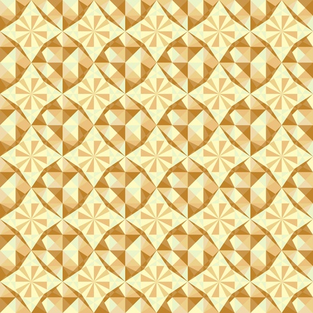 vector seamless geometric pattern in blue, brown and beige colors Vector