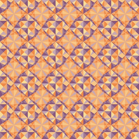vector seamless geometric pattern in blue and red colors Vector